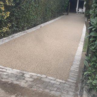 Resin bond driveway